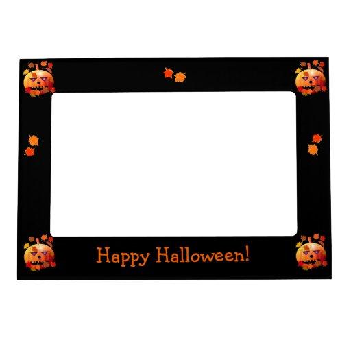 Crazy Halloween Pumpkin Photo Frame Magnet