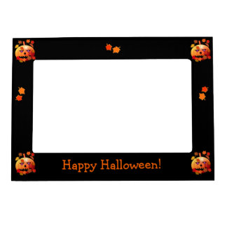 Crazy Halloween Pumpkin Magnetic Photo Frame