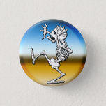"Crazy Halloween Skeleton Button<br><div class=""desc"">Spooked Skeleton Halloween Button</div>"
