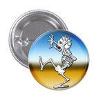Crazy Halloween Skeleton Button