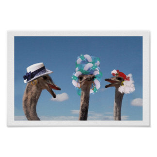 Crazy Hat Day at the Races Poster