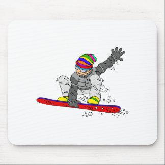 Crazy Hat Snowborder Mouse Pad