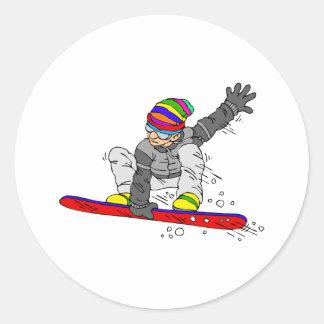 Crazy Hat Snowborder Stickers