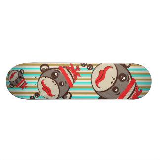Crazy Hat Sock Monkeys on a Skateboard! Skate Board Decks