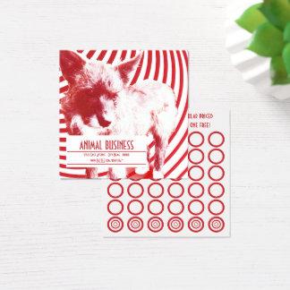 crazy hazie pups stamp card