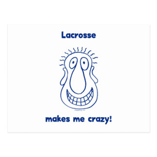 Crazy Head Lacrosse Postcard