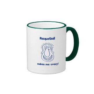 Crazy Head Racquetball Coffee Mugs