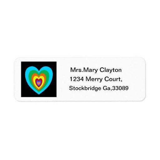 Crazy Heart Address Label