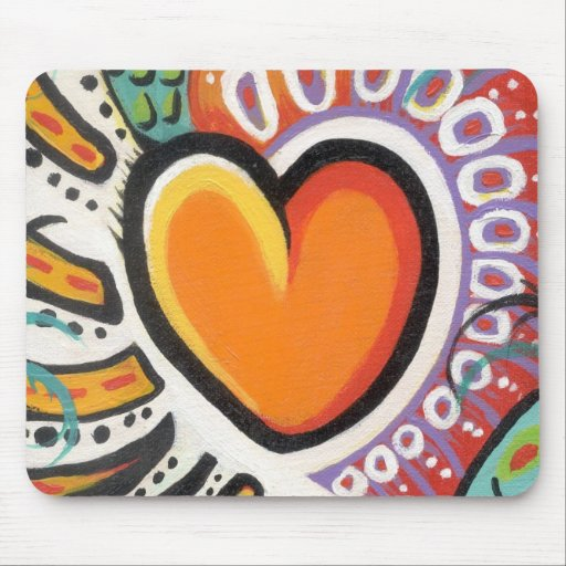 Crazy Heart Mouse Pad