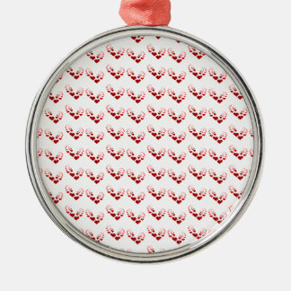 Crazy Heart Pattern Metal Ornament