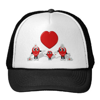 Crazy Hearts - Nurse Child Doctor with big heart Trucker Hat