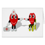 Crazy Hearts - Nurse help Karten