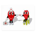 Crazy Hearts - Nurse help Tarjeta Postal