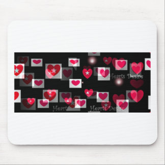 Crazy Hearts on Black Valentine gifts Mouse Pad