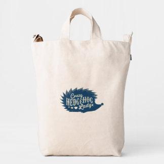 Crazy Hedgehog Lady Duck Bag
