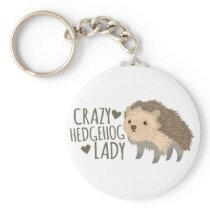 crazy hedgehog lady keychain