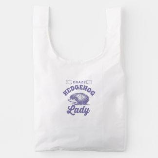 Crazy Hedgehog Lady Reusable Bag