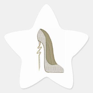 Crazy Heel Lace Stiletto Shoe Art Star Sticker