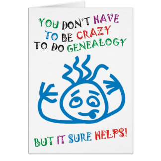Crazy Helps Greeting Card