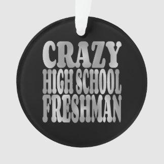 Crazy High School Freshman in Silver Ornament