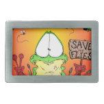 Crazy Hippie Frog Belt Buckle