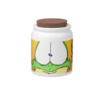 Crazy Hippie Frog Candy Jars