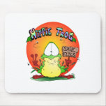 Crazy Hippie Frog Mouse Pad