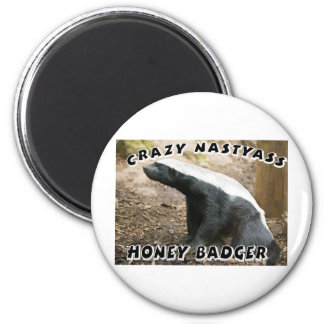 crazy honey badger magnet