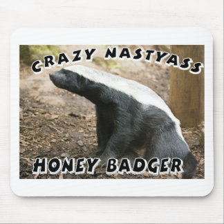 crazy honey badger mouse pad