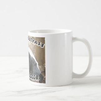 crazy honey badger classic white coffee mug