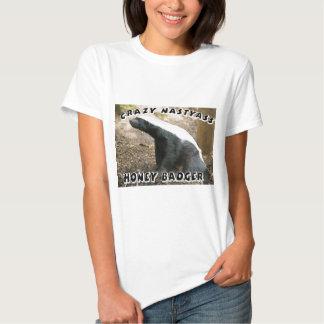 crazy honey badger t-shirt