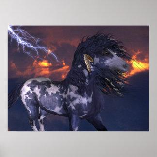 Crazy Horse Blue Poster