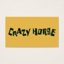 crazy horse business card