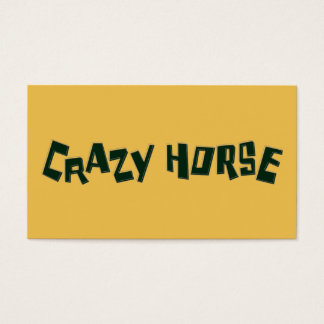 crazy horse business card