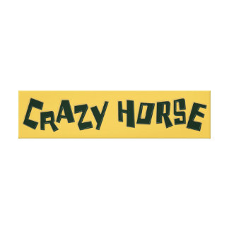 crazy horse canvas print