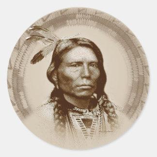 Crazy Horse Classic Round Sticker