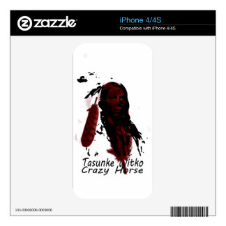 crazy-horse feather decal for the iPhone 4S