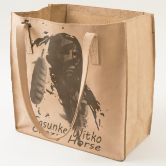CRAZY HORSE FEATHER TOTE