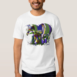 Crazy horse graffiti T-Shirt