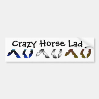 Crazy Horse Lady Bumper Sticker