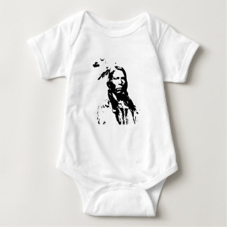 Crazy Horse Native American Baby Bodysuit