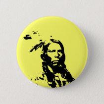 Crazy Horse Native American Button