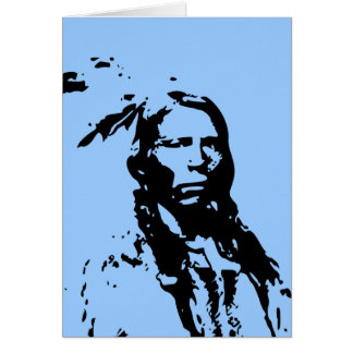 Crazy Horse Native American Greeting Card