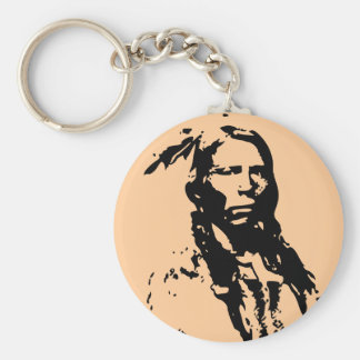Crazy Horse Native American Keychain