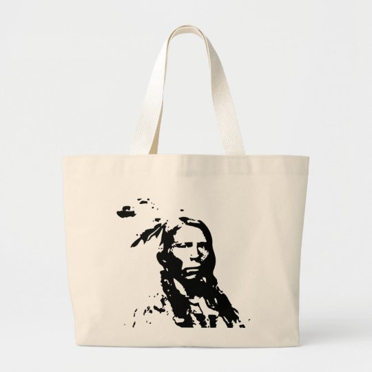 Crazy Horse Native American Large Tote Bag