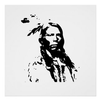 Crazy Horse Native American Leader Poster