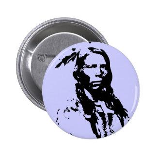 Crazy Horse Native American Pinback Button