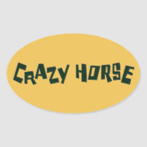 crazy horse oval sticker