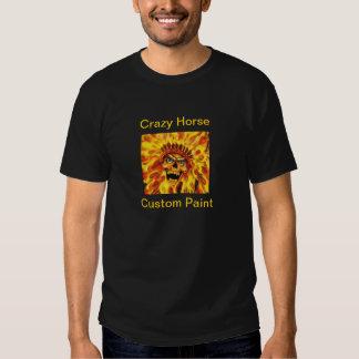 Crazy Horse Paint Skull T Shirt