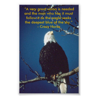 Crazy Horse quote poster
